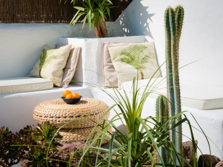 Vista del patio privado