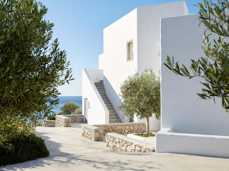 Milos Breeze Boutique Hotel Pollonia arquitectura griega