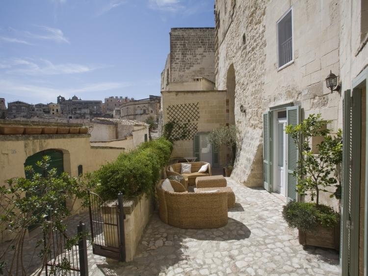 L'Hotel in Pietra Matera Basilicata Italy Entrance