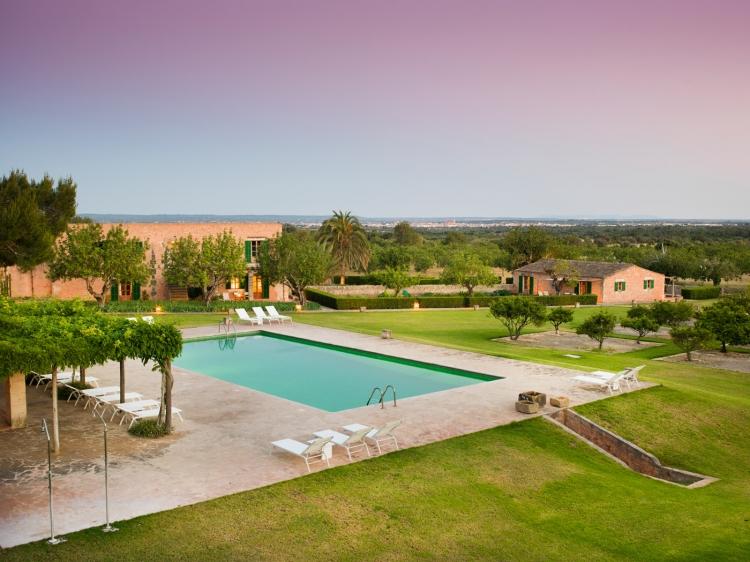 Son Bernadinet Campos Majorca Spain Sunset & Swimmingpool
