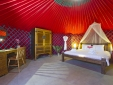 Eco Chiquitita Yurts - inside the largest Yurt