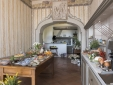 Breakfast buffet in the old hall with a wonderful sea view