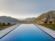 Escapada  Arua Private Spa Villas Tirolo Meran vista piscina montañas