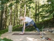 Yoga deck in the alpin forrest.