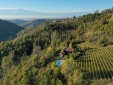 Villa San Lorenzo and our nebbiolo vineyard looking West
